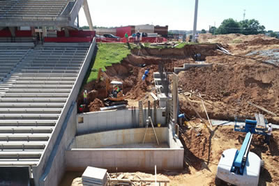 Arkansas State University Lower basin poured at west waterfall