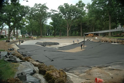 Lake Geneva Wisconsin Lower pond under construction
