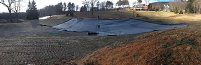 West Alford Massachusetts 1 acre pond liner installation