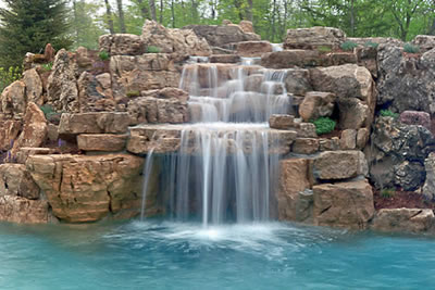 Gallery of Swimming Pool Waterfalls Lincolnshire Illinois by ...