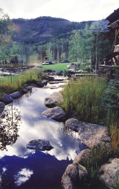 Silverthorne Colorado Stream Reflection