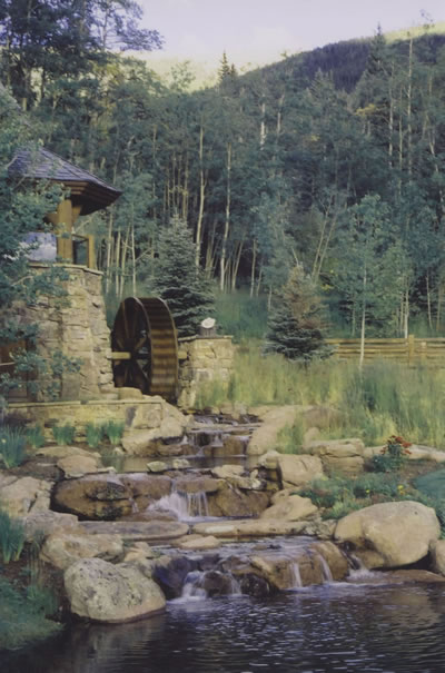 Silverthorne Colorado Water Wheel And Stream